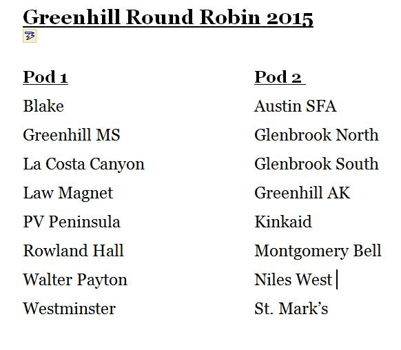 Greenhill RR Pods