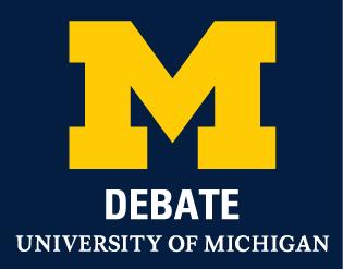 UM Debate Logo Maize and Blue
